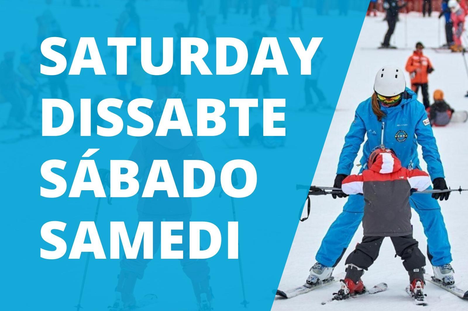 Collective ski class 5 Saturday in Port del Comte