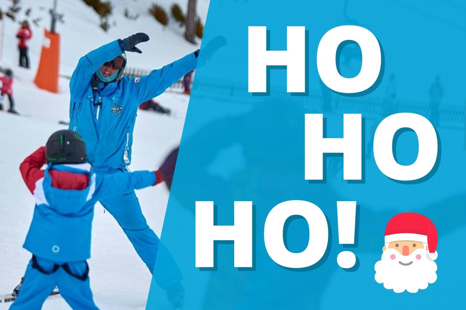 Cours collective du ski Noël à Port del Comte