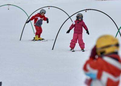Jardí de neu a Port del Comte per aprendre a esquiar