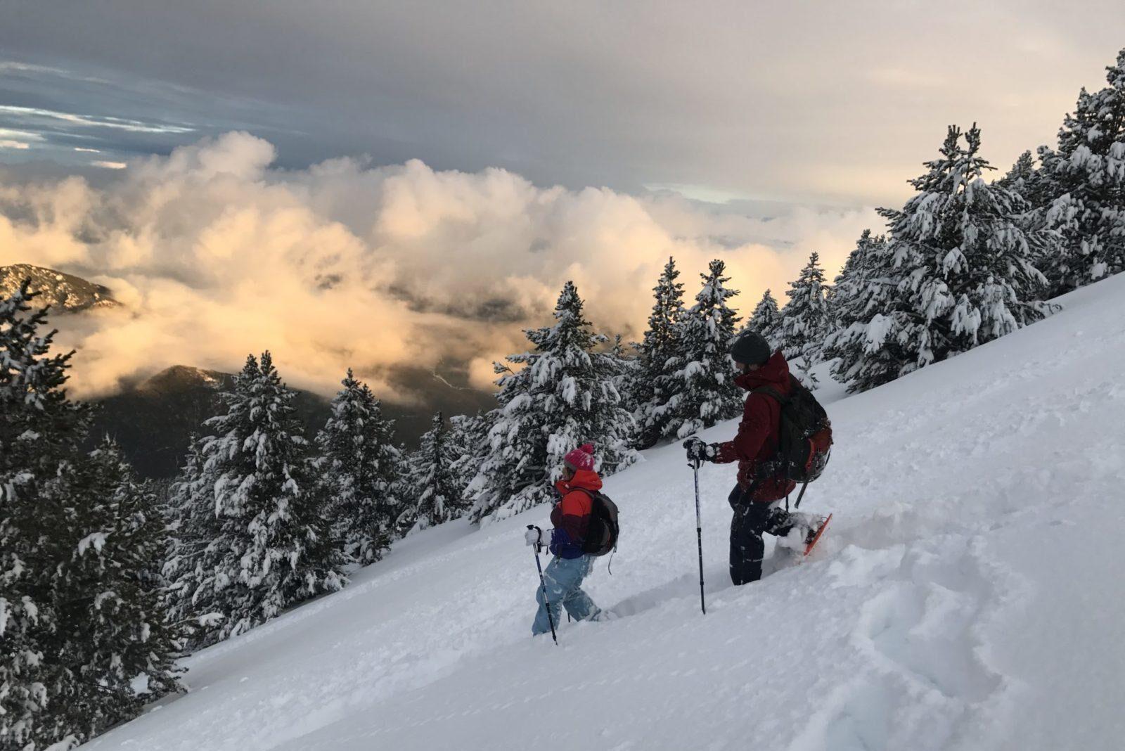 Raquetes de neu a Port del Comte