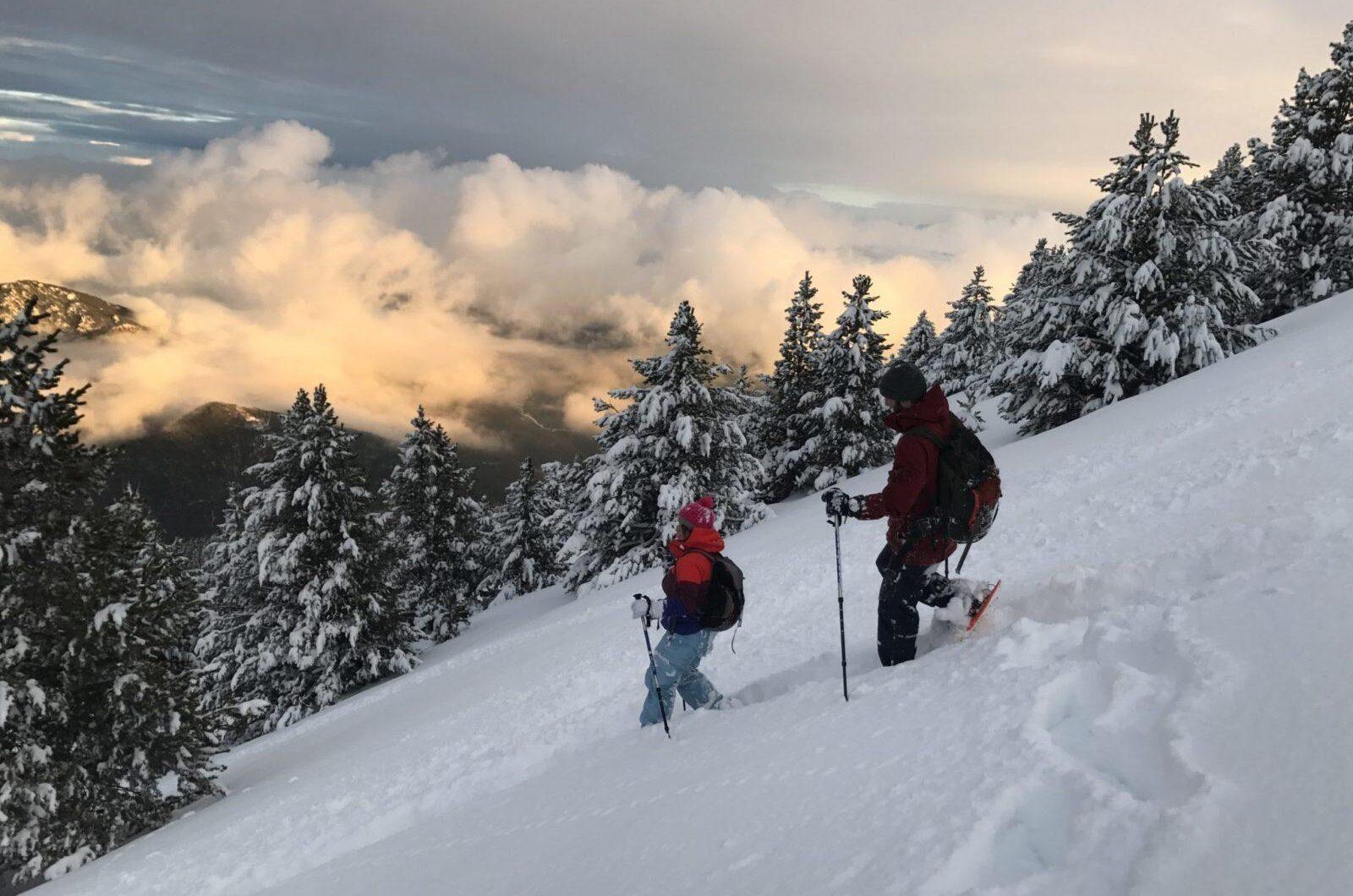 Raquetas de nieve en Port del Comte