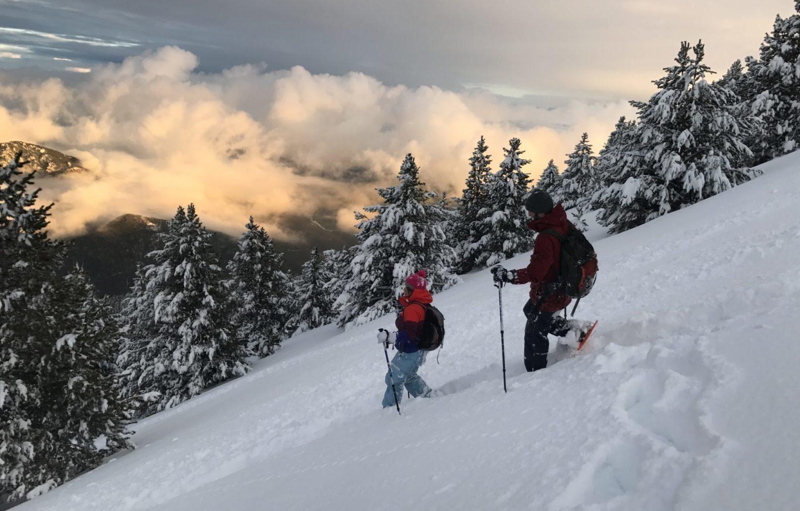 Snowshoeing in Port del Comte